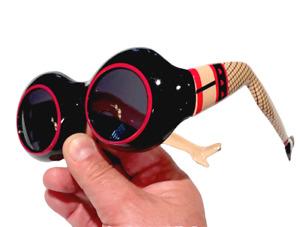 SEXY LEGS GLASSES Sunglasses Funny Goggles Clout Mod Garter Belt Eye Gag Black