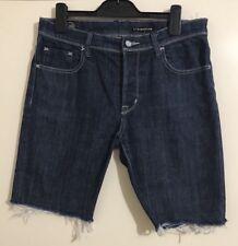 Mens LEE L1 STOVEPIPE Denim Stretch Slim Shorts. Size 32-33. EUC
