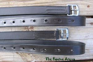 "English Saddle Stirrup Leathers - Havana Brown - 1"" x 54"""