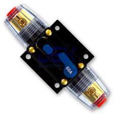 60 Amp In-Line DC Circuit Breaker Solar/Audio/Car/RV 60A/60AMP Fuse 12V/24V/32V