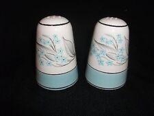 Homer Laughlin Sevron Turquoise BLUE LACE Salt Pepper Shakers