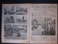 1895 CHIOGGIA Le Cento Città d'Italia Sonzogno Editore riccamente illustrato