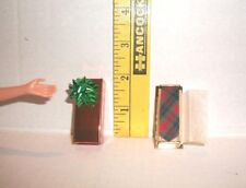 MATTEL MINIATURE BARBIE KEN 1/6 TIE ACCESSORY LOT WITH PRESENT GIFT BOX