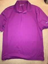 Men's Nike Dri Fit Purple Golf Polo Shirt Small S