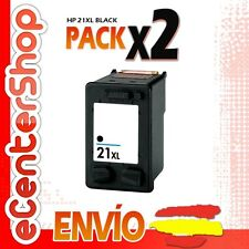 2 Cartuchos Tinta Negra / Negro HP 21XL Reman HP Deskjet D1300 Series