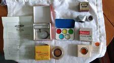 Vintage Camera Accessories, Walz Filter Set, Lens Hood, Konica Auto Up