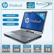 "Touchscreen HP Elitebook 2760p Core i5 12"" Laptop 4GB RAM 320GB HDD Windows 10"