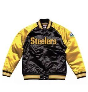 Pittsburgh Steelers Mitchell & Ness NFL Satin Jacket New Sz 3XL