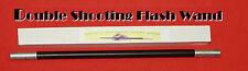 Metal DOUBLE SHOOTING FLASH BANG WAND Magic Trick Stage Magician Prop Shot Paper