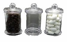 "12 Plastic Clear Acrylic 2.75""D X 3""H CANDY JAR party favors container"
