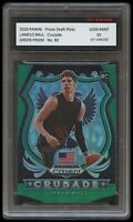 LAMELO BALL 2020 PANINI GREEN PRIZM 1ST GRADED 10 ROOKIE CARD CHARLOTTE HORNETS
