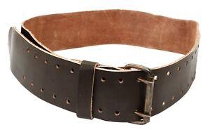 """Heavy Duty Professional Leather Work Belt 3"""" Wide 36-46"""" Long 2 Pin Buckle"""