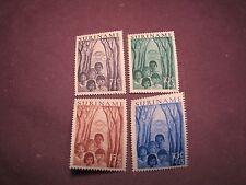 Surinam  Stamp Scott#  B58-B61 Children 1954  MH C277