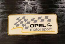 Enseigne Plaque Décorative Garage Auto OPEL MOTORSPORT _52 cm x 22 cm