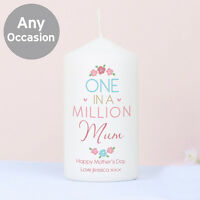 PERSONALISED CANDLE Female Mothers Day Gift Birthday Thank you Present ANY NAME