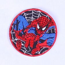iron-sew-on-Spiderman-patch-badge embroidered for kids clothes JACKETS