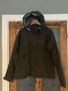Sprayway Gore-Tex Venus Dark Grey Teal Waterproof Jacket Coat Women's UK12/14