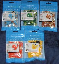 Kawada Nanoblock Pokemon Pikachu Charmander Squirtle Bulbasaur Eevee Set