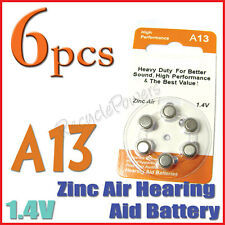 6x A13 13 PR48 7000ZD 1.4V Zinc Air Hearing Aid Battery