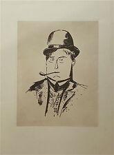 Maurice de Vlaminck gravure autoportrait impressionnisme fauvisme p 1193
