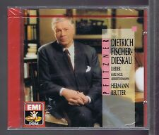 FISCHER-DIESKAU REUTTER  CD NEW PFITZNER LIEDER