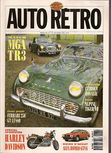 AUTO RETRO 138 MGA TR3 ALPINE TIGER V8 FERRARI 250 GT LUSSO CITROEN ROSALIE