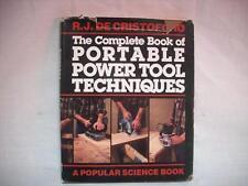 "Vtg 1986 Portable Power Tools Techniques R. J. DeCristoforo - 9"" x 11"" Hardcover"