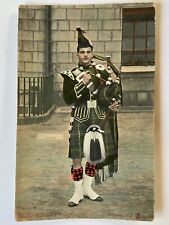 Vintage Postcard of Gordon Highlanders Bagpiper, Scotland, Military, Bagpipes