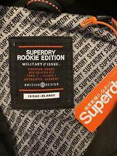 Men's Superdry Classic Rookie Military Jacket BNWT Bitter Black XL