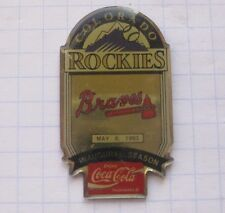 COCA-COLA / MLB COLORADO ROCKIES / ATLANTA BRAVES  ... Baseball Pin (135k)