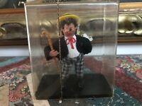 Original Antique 1950s Austria Peter Figuren Handmade Doll Figure Mint in Case
