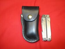 Leather Sheath for LEATHERMAN WAVE MULTI TOOL Western Holster Shaped. Black