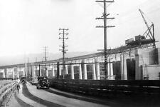 Photo. 1935-7. New Westminster, BC Canada. Construction of Fraser River Bridge