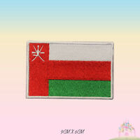 Oman National Flag Embroidered Iron On Patch Sew On Badge Applique