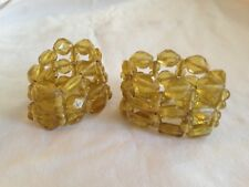 Set of 11 Gold Beaded Napkin Rings