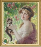 Her most precious - Chart Counted Cross Stitch Pattern Needlework