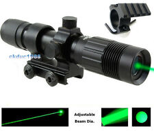 Tactical Green Laser Sight Scope Mount Designator Zoom Light Adjust Illuminator