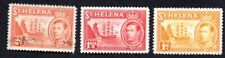 St. Helena 1938 set of stamps Mi#99-101 used/MH