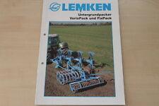 158081) Lemken Untergrundpacker VarioPack FixPack Prospekt 10/2003