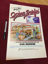 Going Surfing 1970's Bud Browne Rick Griffin Jim Evans 11x17in. Original Poster