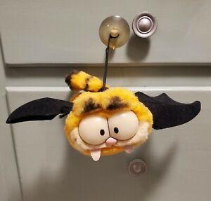 """Vintage 6"""" Garfield Plush Vampire Bat w/ Hanging String 1978 Made in Korea"""