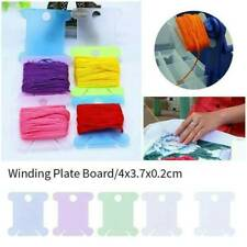 50pcs Plastic Embroidery Floss Craft Stitch Thread Bobbins for Storage Holder Us