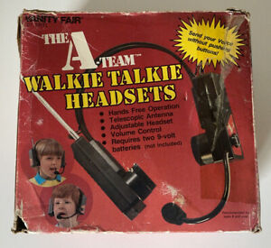 Rare 1983 ERTL Vanity Fair The A-Team Walkie Talkie Headsets Vintage MIB Mr. T