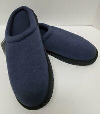 LL Bean Sweater Fleece Slipper Scuff Men's Navy House Shoes Size 10