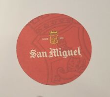 "PHILIPPINES Beer Mat Coaster SAN MIGUEL Red Round NEW 2017 Pinoy 4"" Diameter"