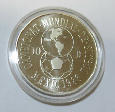 ANDORRA 10 DINERS 1986 FUßBALL WM WORLD CUP 1986 MEXICO SILBER PL KM# 34