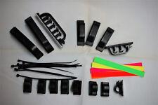 31Pcs  Cable Management Kit - 3 Size Black Clips - Self Adhesive