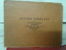 Vintage ELLIPSE TEMPLATE DIETZGEN No. 2274 parallel projection circles drafting