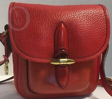 Vintage Dooney & Bourke~AWL~RED*P35 Medium Single Pocket*Outback*Bag*18115M S172