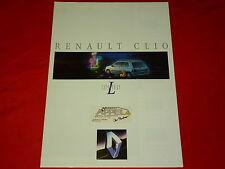 """RENAULT Clio """"Limited"""" Sondermodell Prospekt von 1992"""